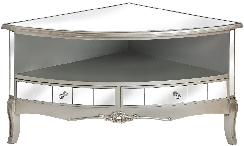 Hill Interiors Argente Mirrored TV Unit - Corner