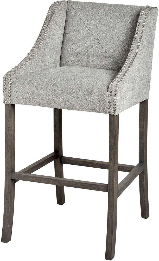 Hill Interiors Luxury Ring Back Fabric Barstool