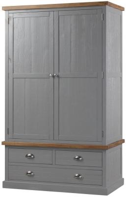 Hill Interiors Byland Grey 2 Door Wardrobe