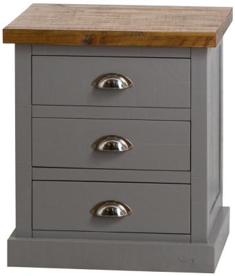 Hill Interiors Byland Grey Bedside Cabinet