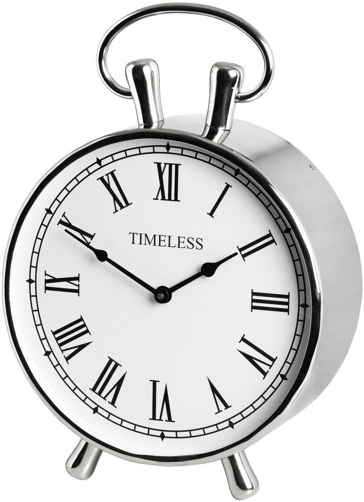 Hill Interiors Chrome Mantel Clock