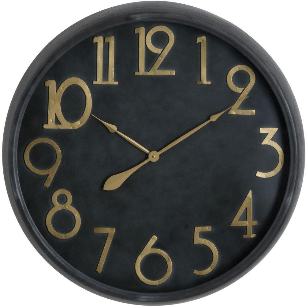 Hill Interiors Soho Brass and Black Large Clock