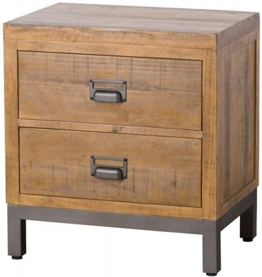 Hill Interiors Draftsman Solid Pine Bedside Cabinet