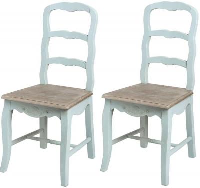Hill Interiors Duck Egg Blue Dining Chair (Pair)