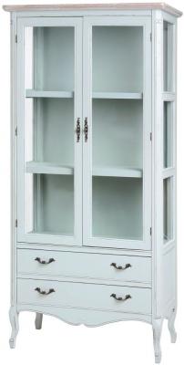 Hill Interiors Duck Egg Blue Display Cabinet - 2 Drawer 2 Door
