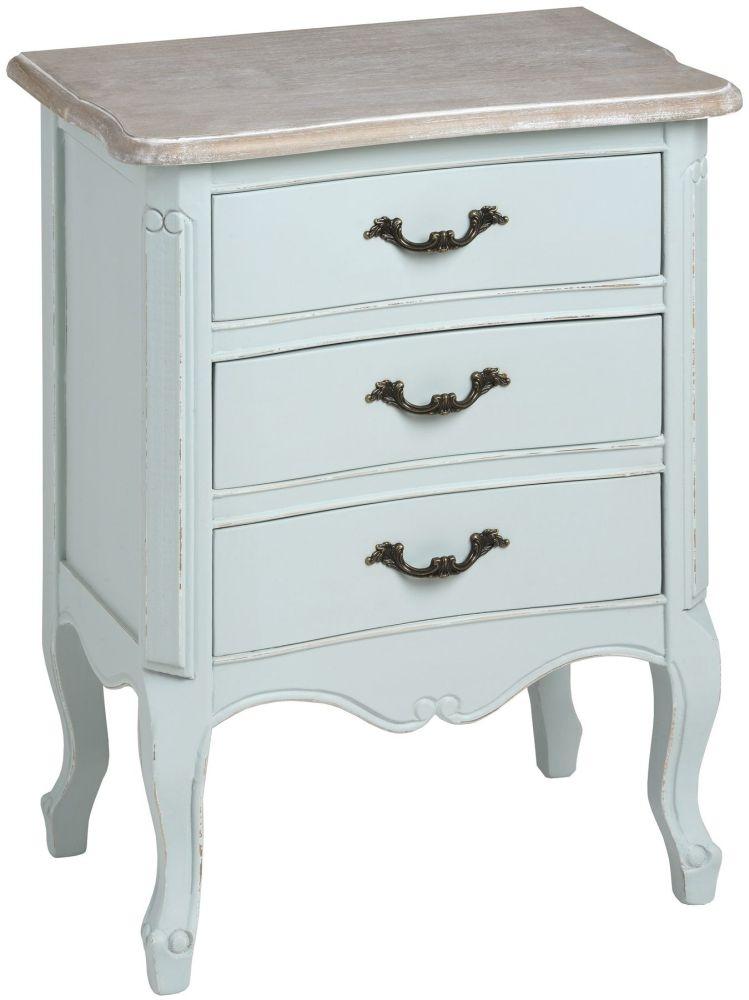 Hill Interiors Duck Egg Blue Bedside Cabinet - 3 Drawer