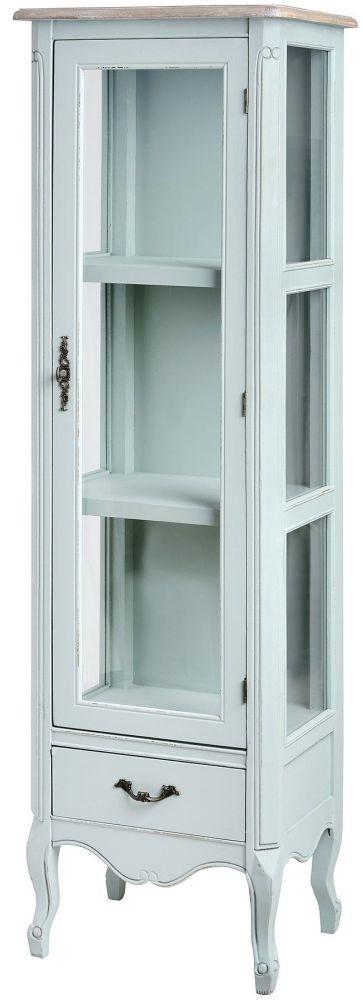 Hill Interiors Duck Egg Blue Display Cabinet - 1 Door