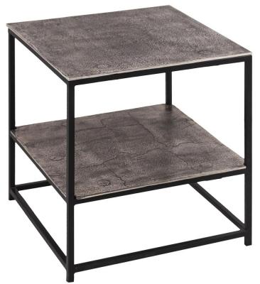 Hill Interiors Farrah Silver Side Table