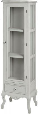 Hill Interiors Fleur Glazed Display Cabinet - Tall