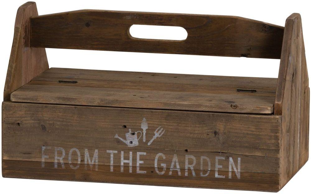 Hill Interiors Rustic Wood Garden Tool Box