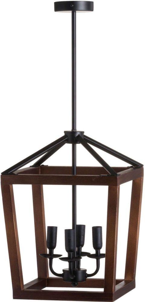 Hill Interiors Large Wooden Coach Lantern Hanging Pendant Light