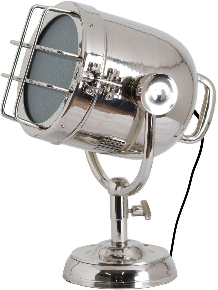 Hill Interiors Nickel Industrial Spotlight Table Lamp