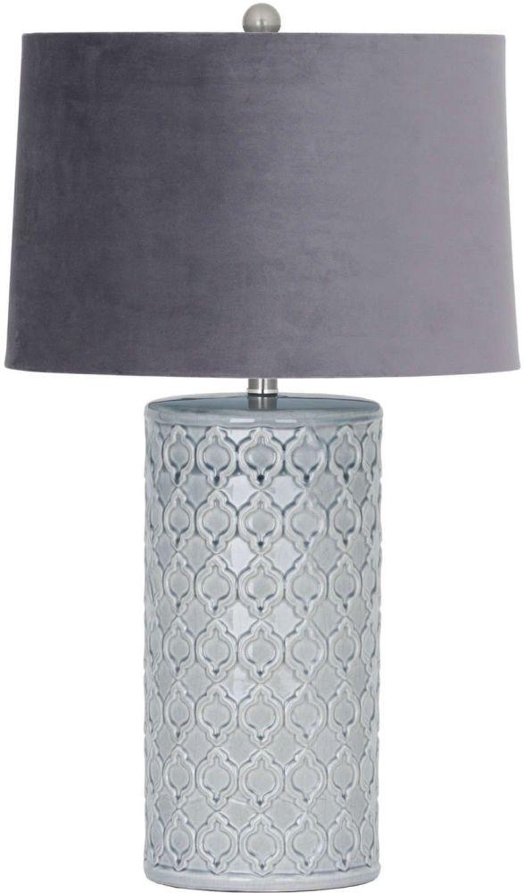 Hill Interiors Quinn Ceramic Grey Table Lamp