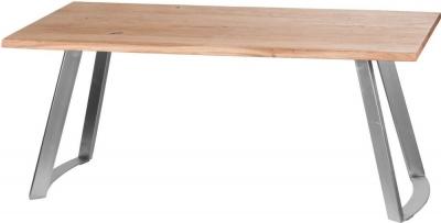 Hill Interiors Live Edge Sandblasted Rectangular Dining Table