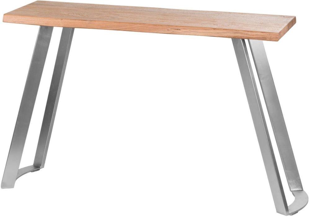Hill Interiors Live Edge Sandblasted Console Table