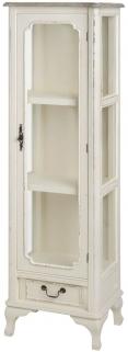 Hill Interiors Pavilion Antique White Display Cabinet with Glass Door - Medium