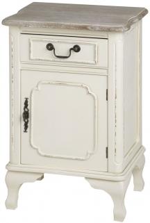 Hill Interiors Pavilion Antique White Left Bedside Cabinet - 1 Drawer