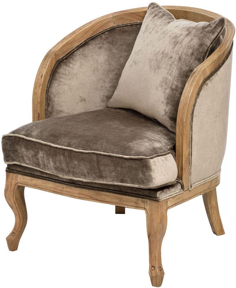 Hill Interiors Velvet Mink Tub Chair