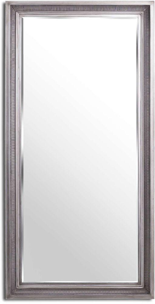Hill Interiors Oscar Antique Silver Rectangular Leaner Mirror - 90cm x 180cm