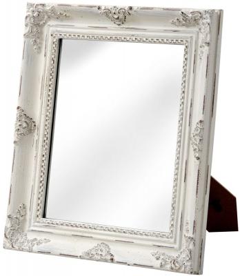 Hill Interiors Baroque Antique White Table Mirror