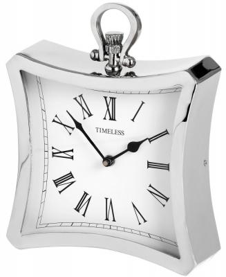 Hill Interiors Silver Contour Clock