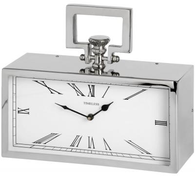 Hill Interiors Silver Pocket Watch Clock