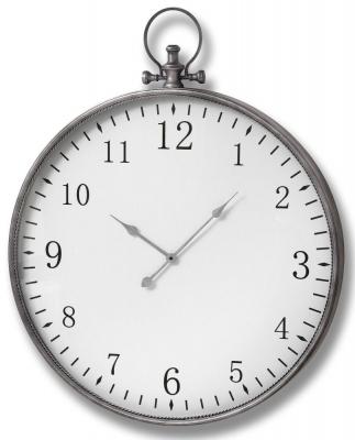 Hill Interiors Silver Pocket Watch Wall Clock