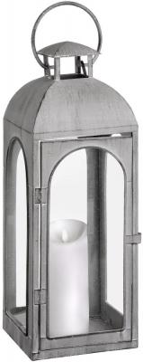 Hill Interiors Tall Distressed Matte Grey Coach Lantern