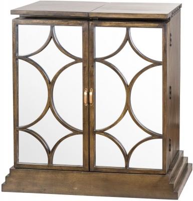 Hill Interiors The Vinus Mirrored Folding Bar Cabinet