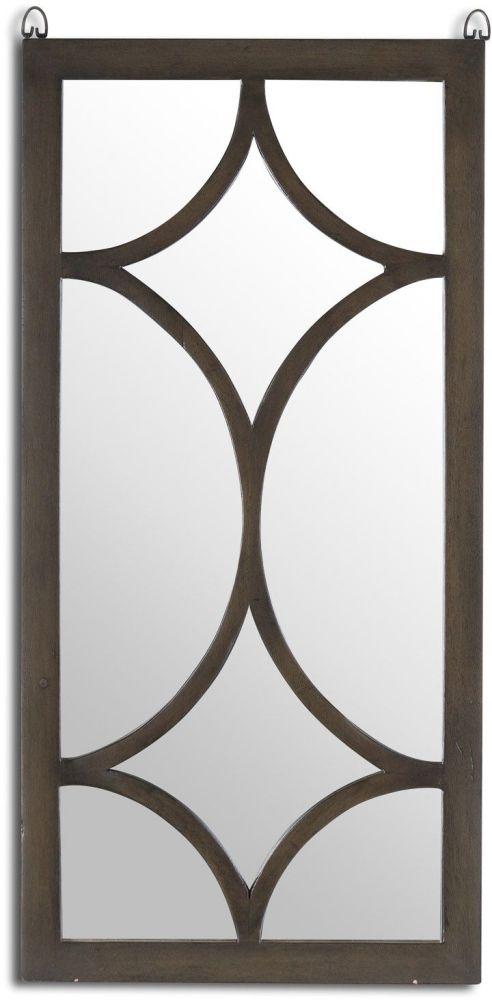 Hill Interiors The Vinus Portrait Brown Wall Mirror - 40cm x 80cm