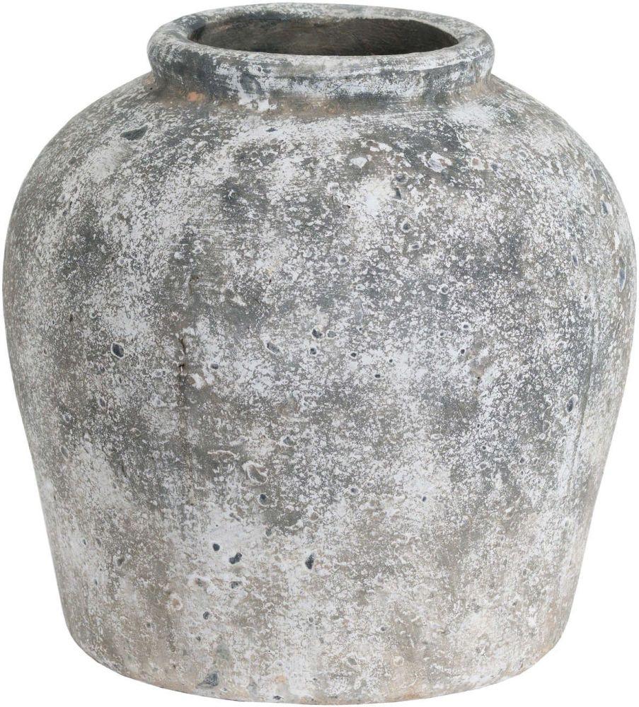 Hill Interiors Aged Stone Ceramic Vase