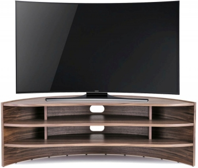 Tom Schneider Curvature 1500 Walnut TV Stand