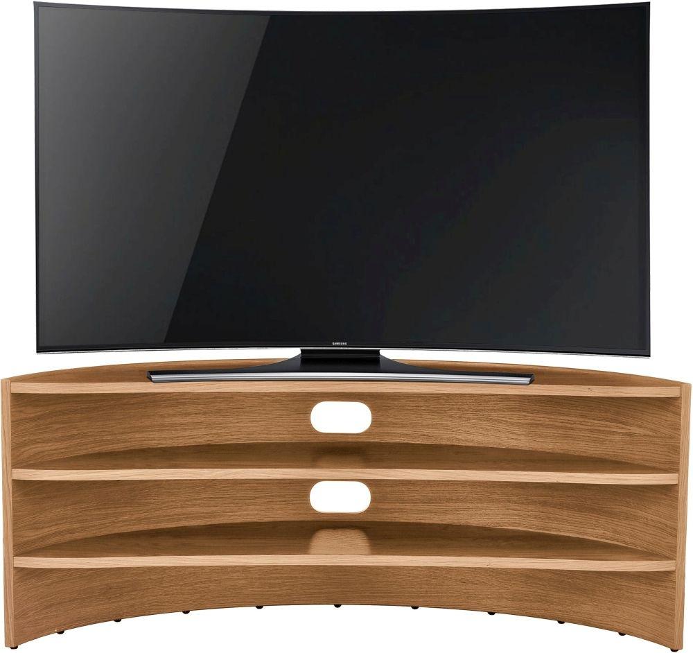 Tom Schneider Curvature 1250 Oak TV Stand