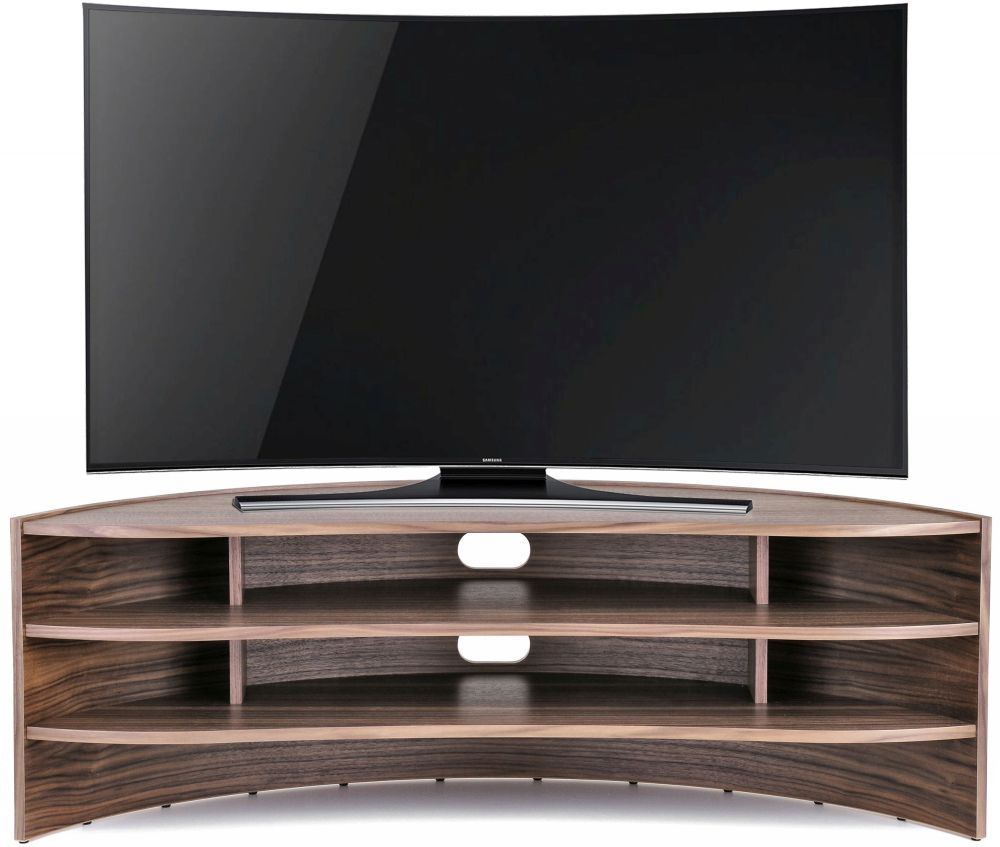 Tom Schneider Curvature 1250 Walnut TV Stand