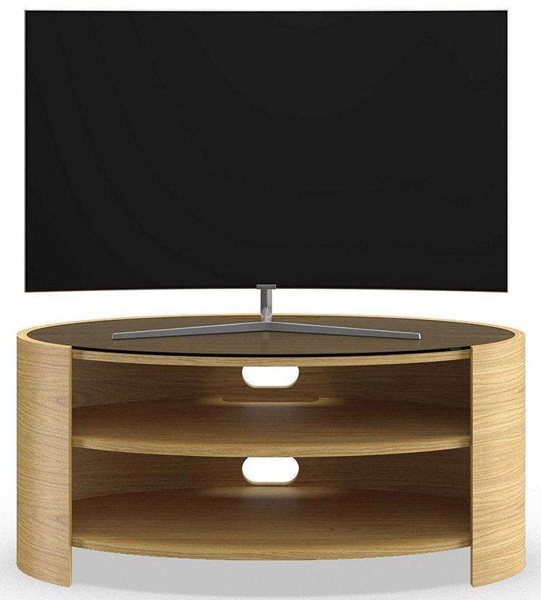 Tom Schneider Elliptic 1000 Oak Small TV Stand