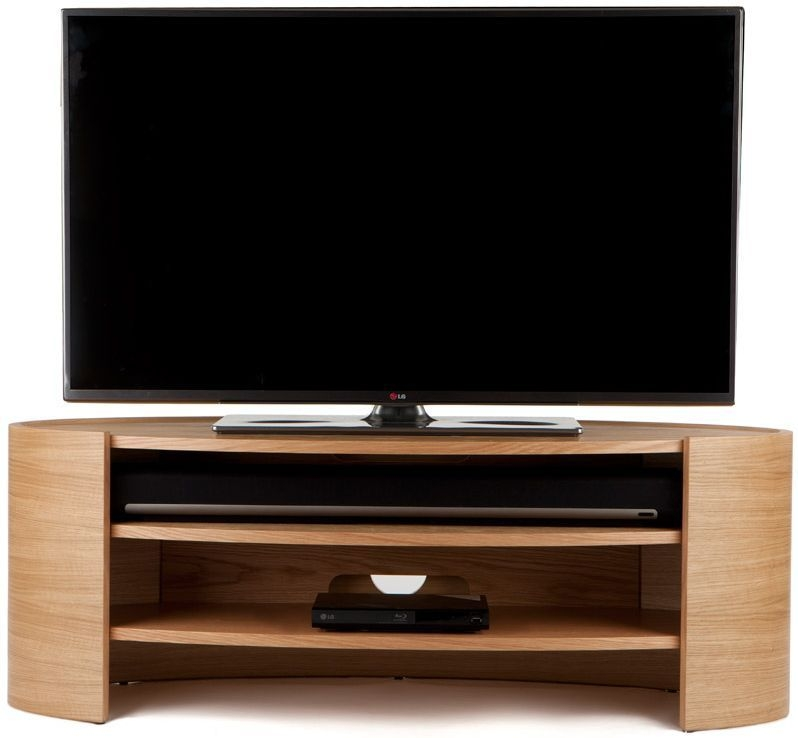 Tom Schneider Elliptic 1250 Oak Medium TV Stand
