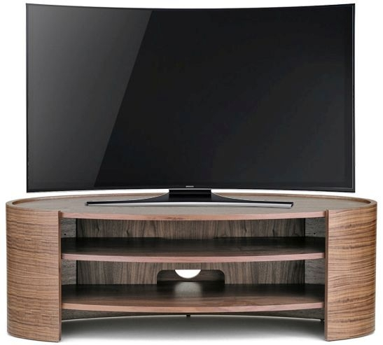 Tom Schneider Elliptic 1250 Walnut Medium TV Stand
