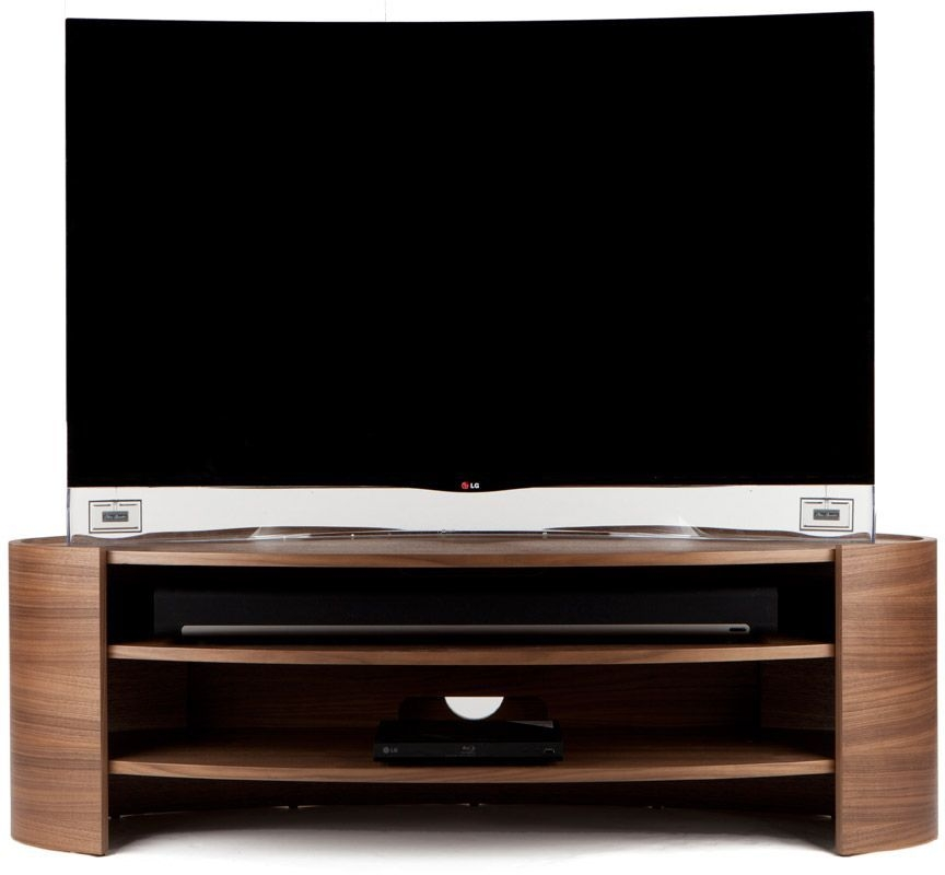 Tom Schneider Elliptic 1400 Walnut Large TV Stand