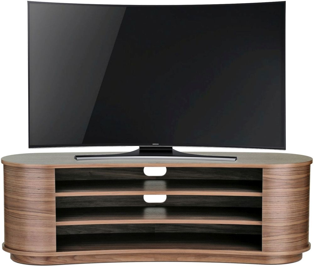 Buy Tom Schneider Radius 1550 Walnut Tv Stand Online Cfs Uk