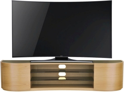 Tom Schneider Undulate Oak 2 Door TV Stand