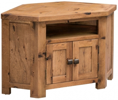 Homestyle GB Aztec Oak Corner TV Cabinet