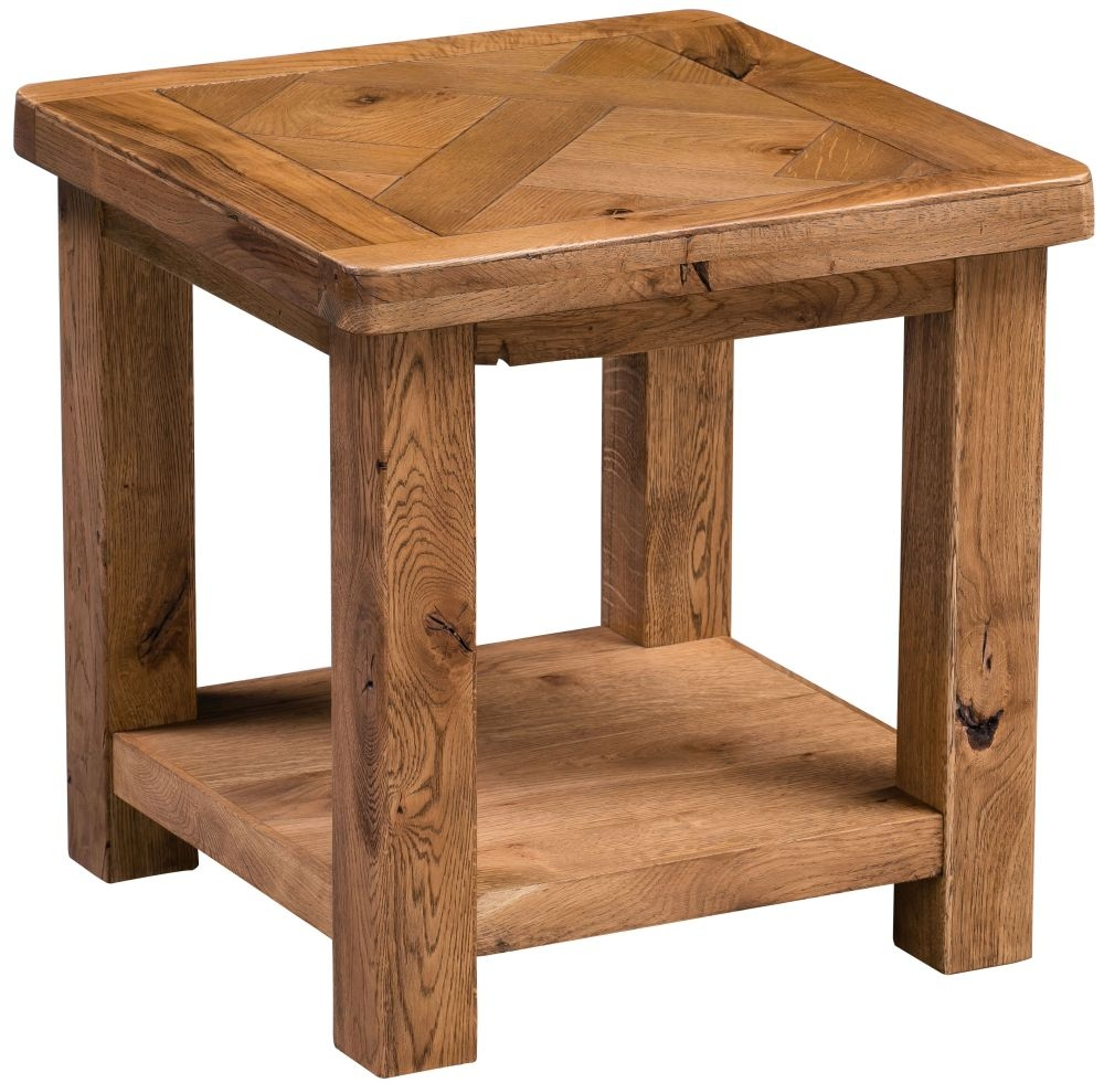Homestyle GB Aztec Oak Lamp Table
