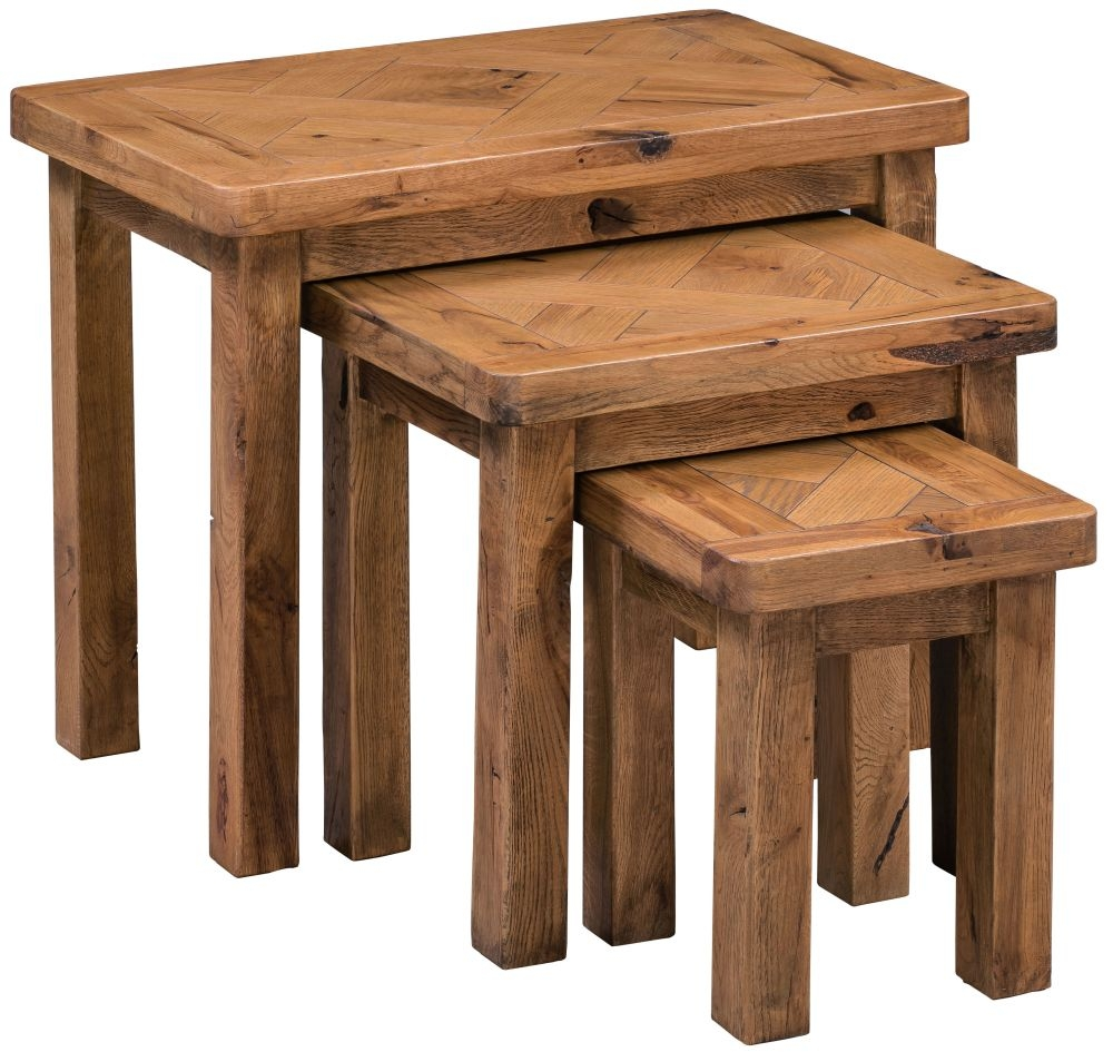 Buy Homestyle Gb Aztec Oak Nest Of Tables Online Cfs Uk