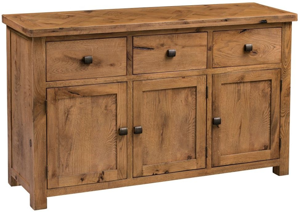 Homestyle GB Aztec Oak Wide 3 Door 3 Drawer Sideboard