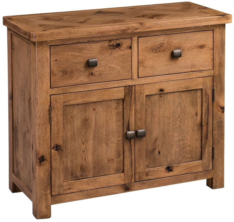 Homestyle GB Aztec Oak 2 Door 2 Drawer Narrow Sideboard