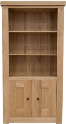Homestyle GB Bordeaux Oak Bookcase - 2 Door
