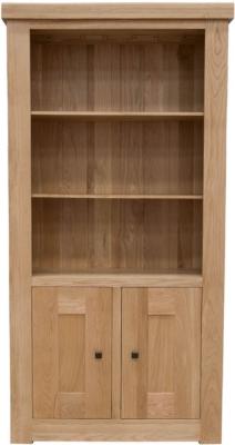 Homestyle GB Bordeaux Oak Bookcase - 2 Door