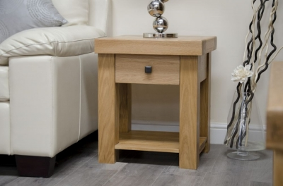 Homestyle GB Bordeaux Oak Lamp Table