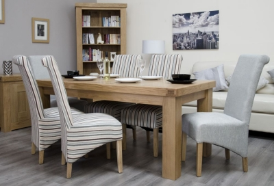 Homestyle GB Bordeaux Oak Dining Set and 6 Richmond Chairs