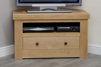 Homestyle GB Bordeaux Oak TV Cabinet - Corner